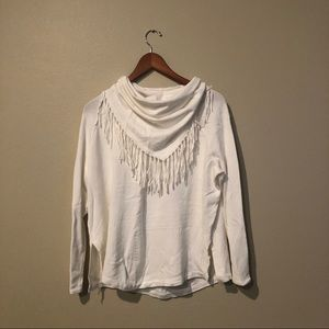 White Central Park West Crowl Sweater